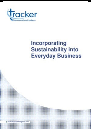 Industry Report - Incorporating Sustainability Into Everyday Business