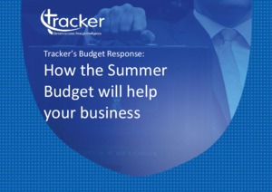 Industry Report - Tracker's Budget Response: How the Summer Budget will help your business